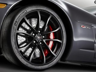 GM Black Cup Wheel installed on C6 Z06 Corvette