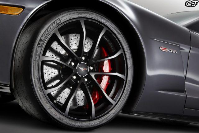 GM Black Cup Wheel installed on C6 Z06 Corvette