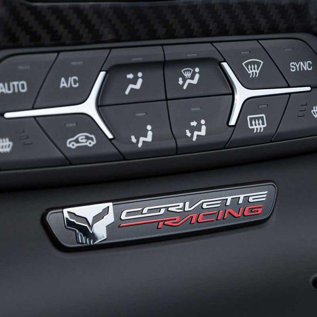 GM C7 Corvette Interior Trim Badge - Jake Corvette Racing - 23138328