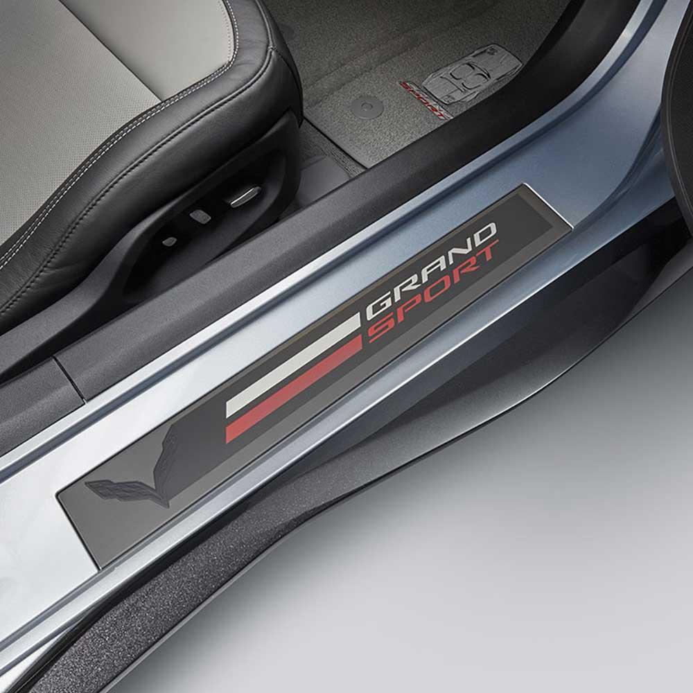 GM C7 Corvette Grand Sport Door Sill Plates installed - 23279545