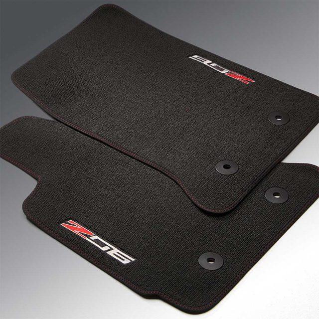 GM C7 Corvette Z06 front floor mats - 23476289