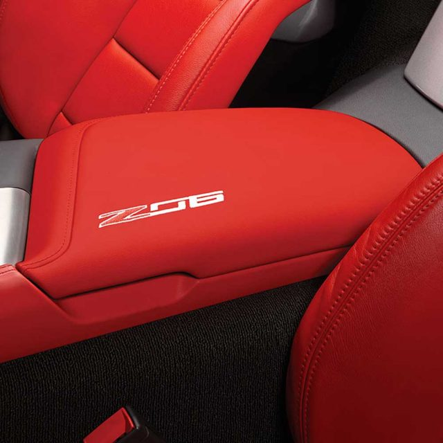 GM C7 Z06 center console lid - adrenaline red - 84539757
