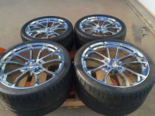 C7 Cup GM Chrome Wheel Tire Package