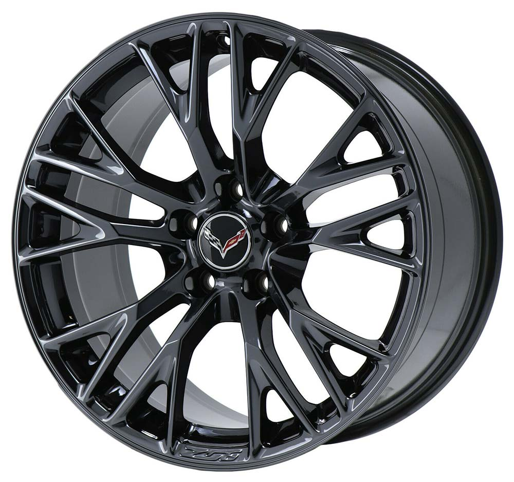 C7 Z06 Corvette Wheels in Gloss Black