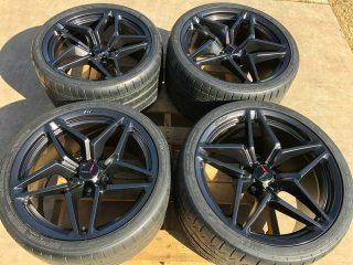 C7 ZR1 GM Satin Black Wheel Tire Package