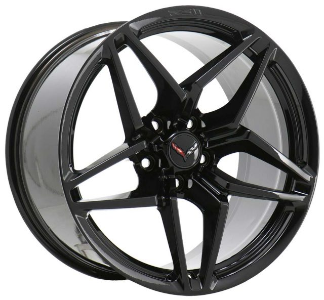C7 ZR1 GM Satin Black Wheel Tire Package