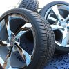 GM C7 5 Spoke Torque Corvette Chrome Wheel Tire Package