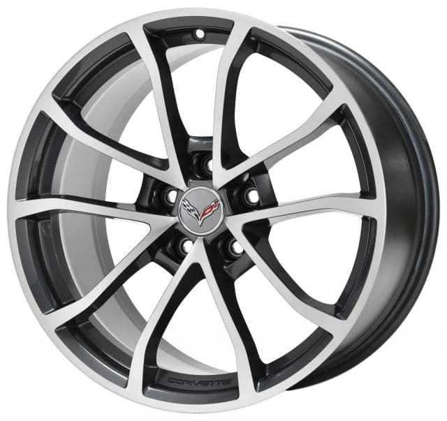 GM C7 Grand Sport Cup Wheels - Machined Grey