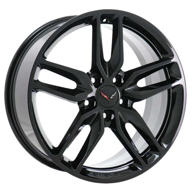 GM C7 2014 Z51 Corvette Stingray Wheels - Black