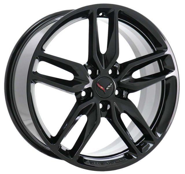 GM C7 Z51 Stingray Corvette Black Wheel Tire Package