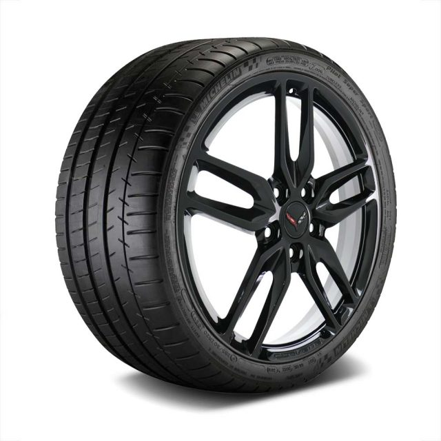 GM C7 Z51 Stingray Corvette Black Wheel Tire Package