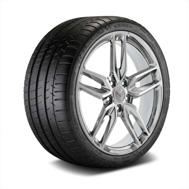 GM C7 Z51 Stingray Corvette Chrome Wheel Tire Package