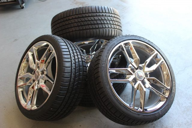 Chrome Z51 Corvette Wheel Michelin AS3 Tire Package-1468