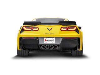 Akrapovic Slip-On Exhaust System for the C7 Stingray, Z06 & Grand Sport Corvette - Installed Rear