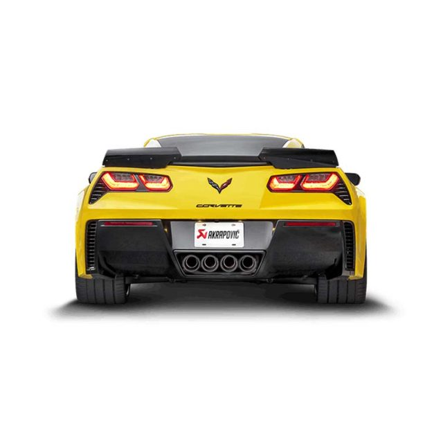 Akrapovic Slip-On Exhaust System for the C7 Stingray, Z06 & Grand Sport Corvette - Installed Rear