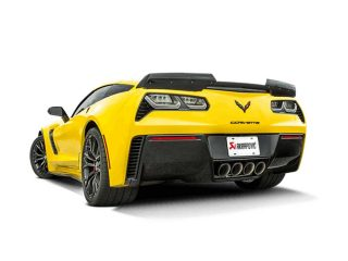 Akrapovic Evolution Exhaust System for the C7 Stingray, Z06 & Grand Sport Corvette - Installed Side Rear