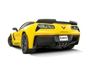 Akrapovic Slip-On Exhaust System for the C7 Stingray, Z06 & Grand Sport Corvette - Installed Side Rear