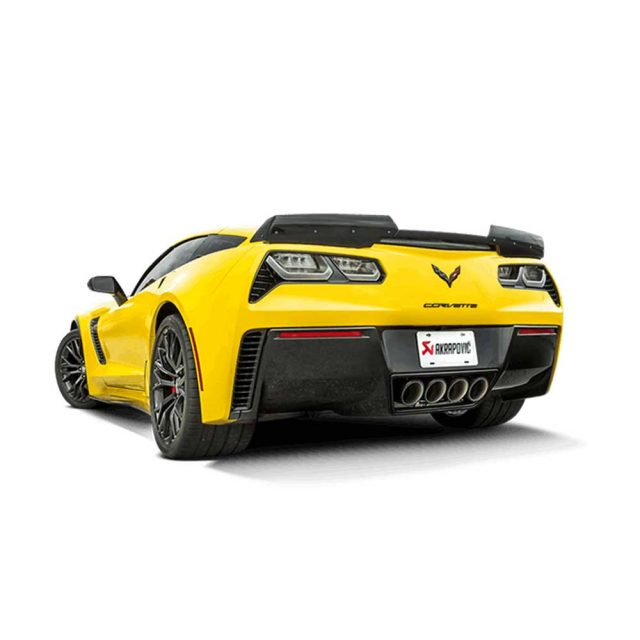 Akrapovic Slip-On Exhaust System for the C7 Stingray, Z06 & Grand Sport Corvette - Installed Side Rear