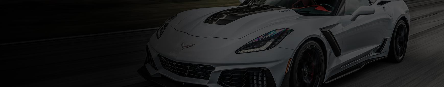 Corvette wheel and tire package banner