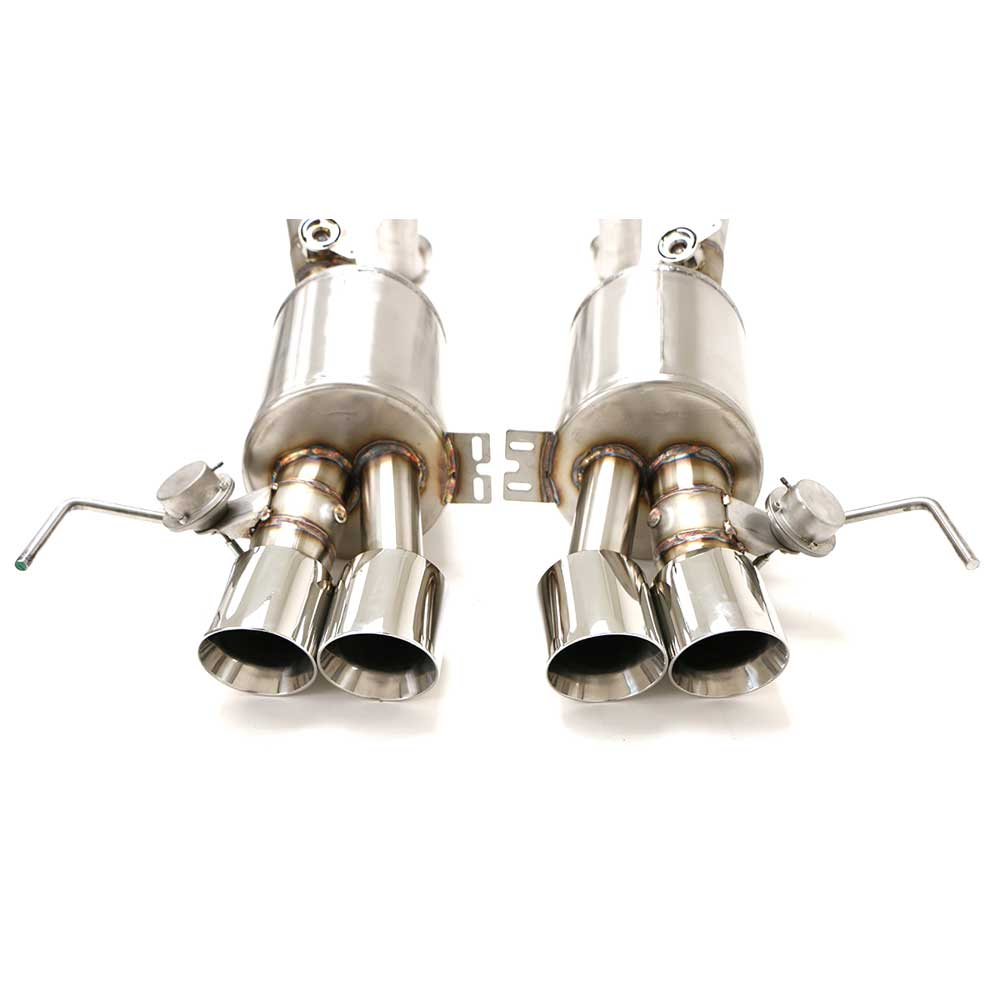 B&B C7 Exhaust - Round Tips