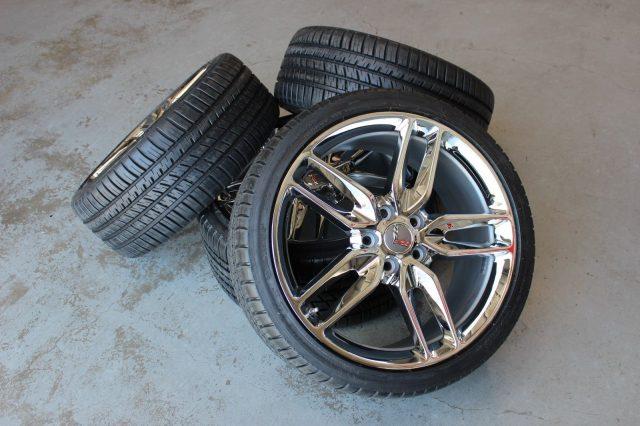 Chrome Z51 Corvette Wheel Michelin AS3 Tire Package-0