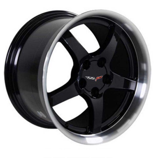 C5 Reproduction Corvette Wheels - Gloss Black
