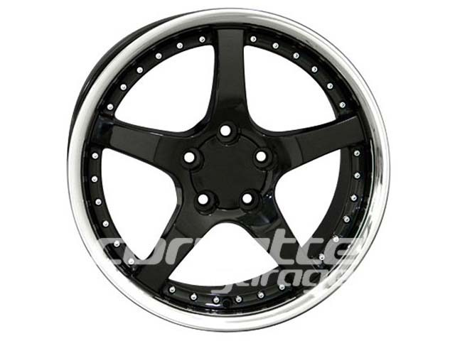 C5R Deep Dish Wheels for 1997-2004 C5 and Z06 Corvette - Black