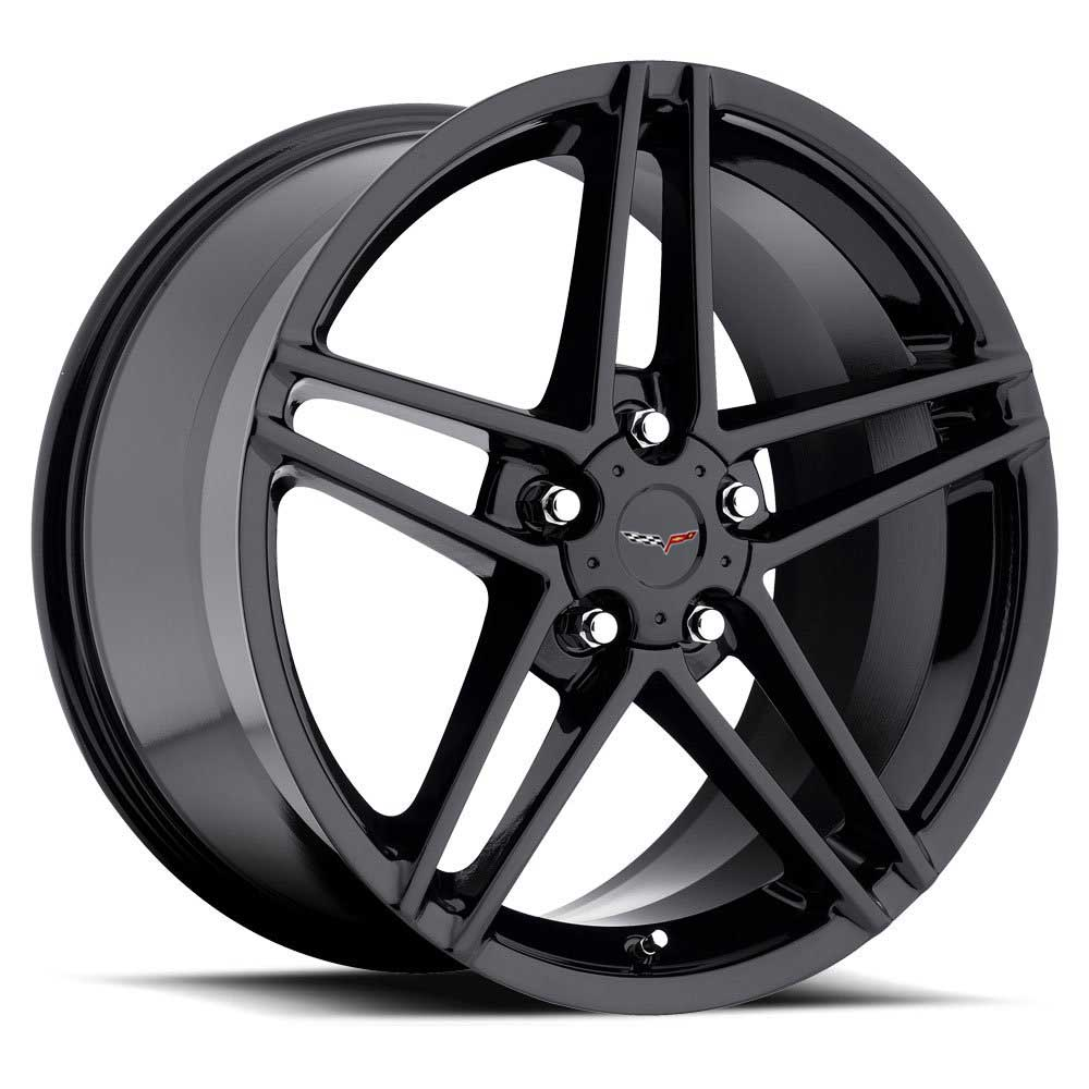 C6 Z06 Corvette Reproduction Wheel - Gloss Black