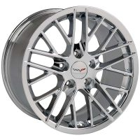 ZR1 Reproduction Wheels for 1997-2004 C5 and C6 Z06 Corvette - Chrome