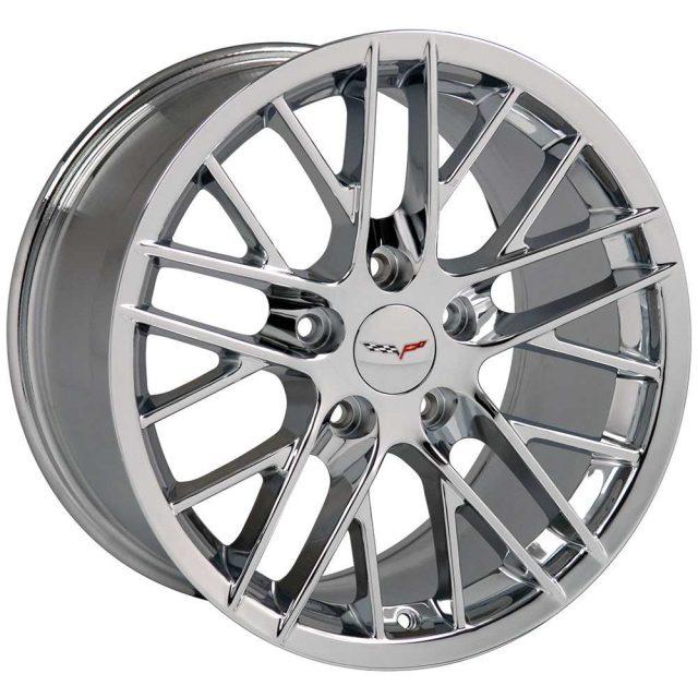 ZR1 Reproduction Wheels for 1997-2004 C5 and C6 Z06 Corvette - Chrome