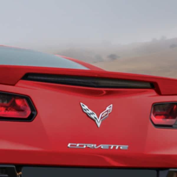 GM C7 Corvette Rear Blade Spoiler - Long Beach Red