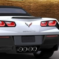 C7 Corvette Stingray Crossed Flag Emblems - 23375965