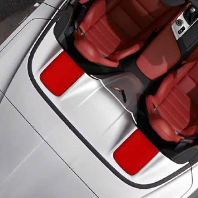 C7 Corvette Tonneau Lid Trim Insert in Torch Red - 23186970