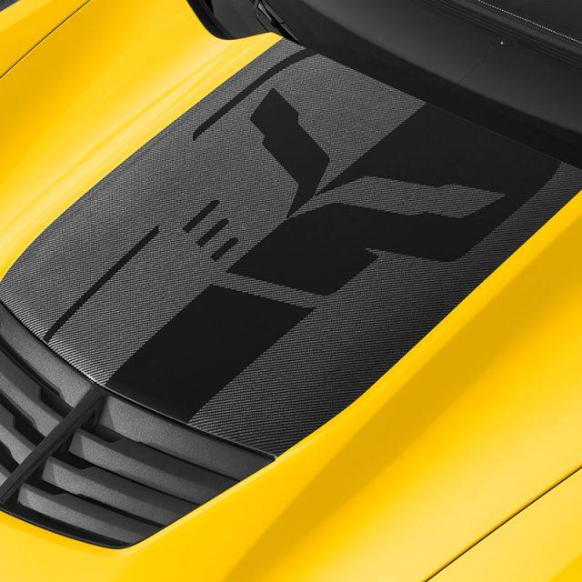 C7 Corvette Hood Stinger Black Decal Package - 23270637