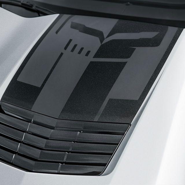 C7 Corvette Hood Stinger Carbon Flash Metallic Decal Package