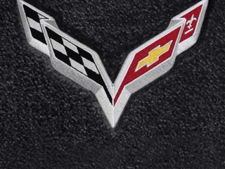 C7 Stingray Corvette Lloyds Mats - Logo Closeup