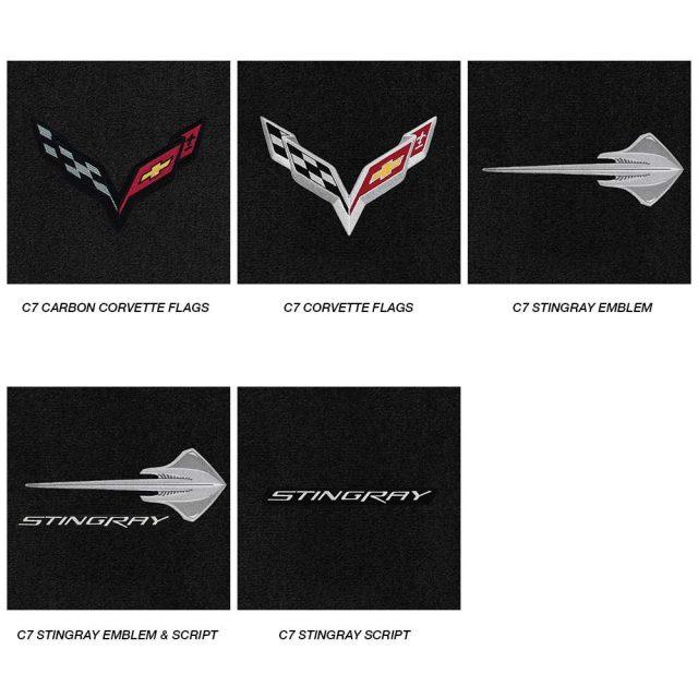 C7 Stingray Corvette Lloyds Mats - Logo Chart