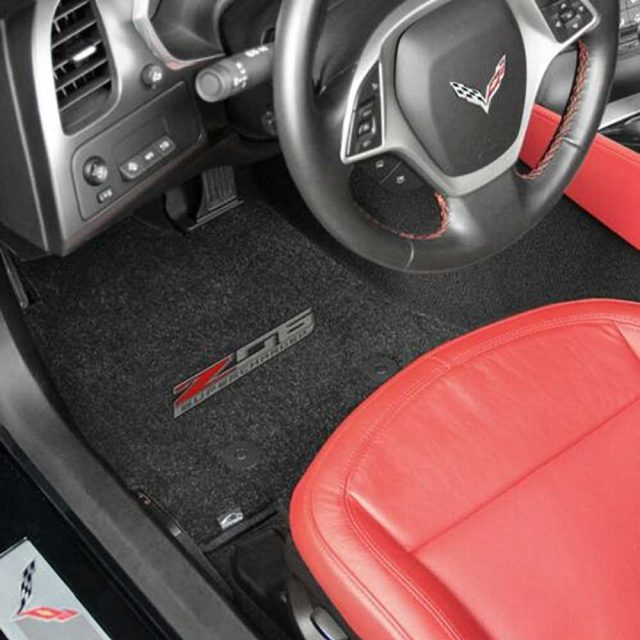 C7 Z06 Corvette Lloyds Mats - Installed Front