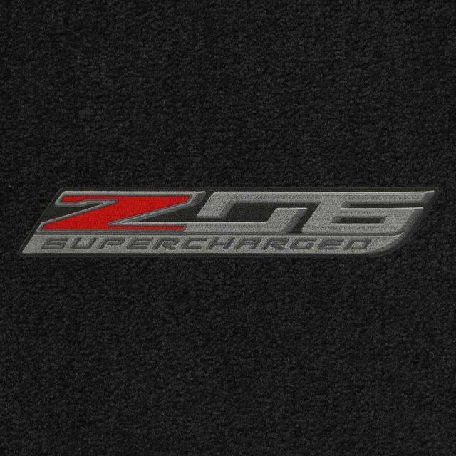 C7 Z06 Corvette Lloyds Mats - Logo Closeup