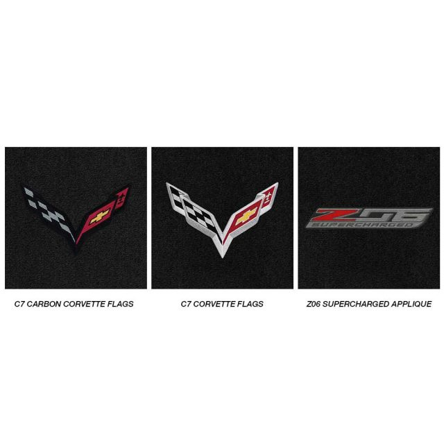 C7 Z06 Corvette Lloyds Mats - Logo Chart