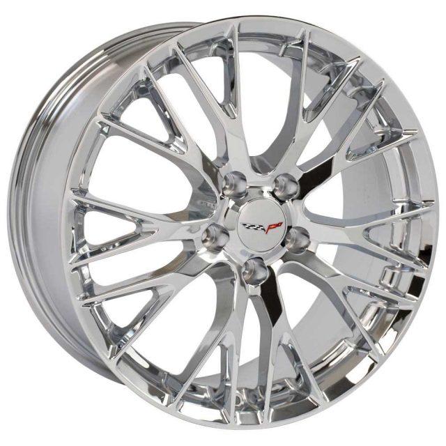 C7 Z06 Reproduction Wheels for 1997-2004 C5 Corvette - Chrome