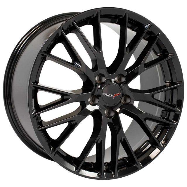 C7 Z06 Reproduction Wheels for 1997-2004 C5 Corvette - Gloss Black