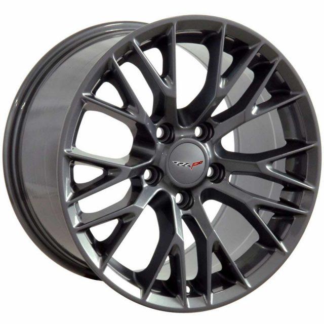 C7 Z06 Reproduction Wheels for 1997-2004 C5 Corvette - Gun Metal