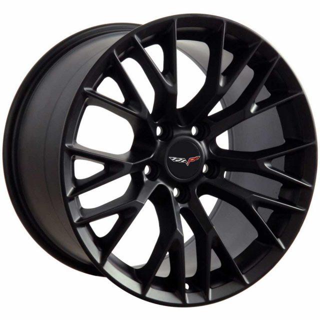 C7 Z06 Reproduction Wheels for 1997-2004 C5 Corvette - Satin Black