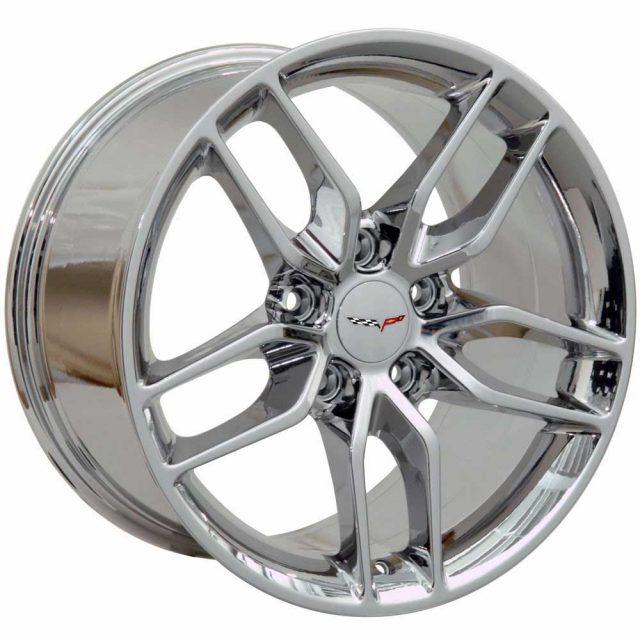 C7 Z51 Reproduction Wheels for 1997-2004 C5 Corvette - Chrome