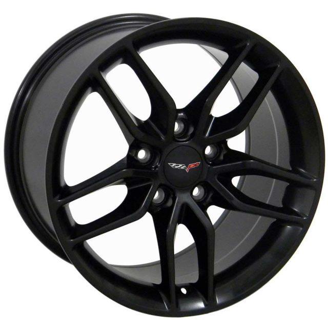 C7 Z51 Reproduction Wheels for 1997-2004 C5 Corvette - Satin Black