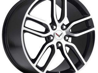 C7 Z51 Corvette Reproduction Wheel - Black Machine Face