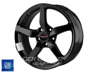 GM C7 2014 Corvette Stingray Wheels - Black Powdercoat