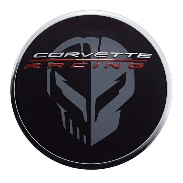 GM C8 Corvette Center Caps - Black with Jake Logo - 84385014