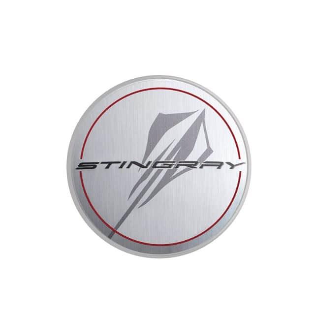 GM C8 Corvette Center Caps - Silver with Stingray Logo - 84385016